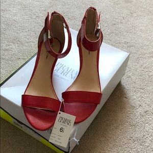 NWT Prabal Garung for Target red wedge sandals 6.5